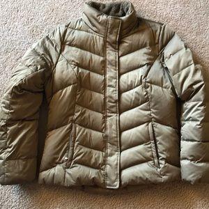 Eddie Bauer Gold Brown 550 Goose Down Jacket